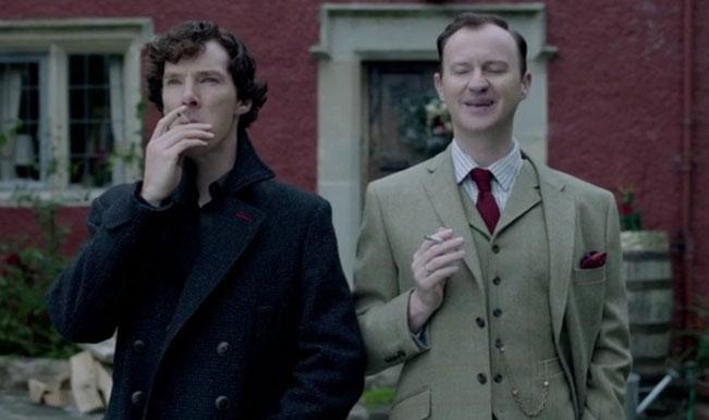Sherlock and Mycroft smokin