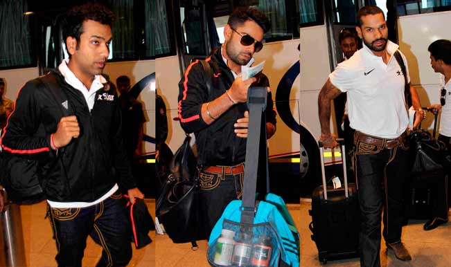 Indian Cricket team leaves for Asia Cup 2014