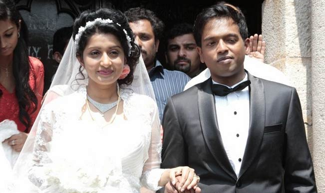 Meera Jasmine and Anil John Titus Marriage Photo