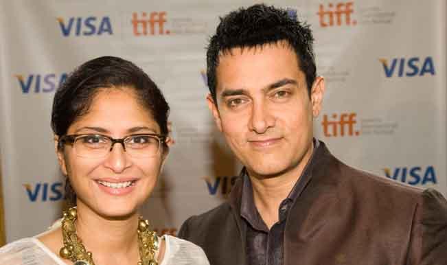 Amir Khan with his wife Kiran