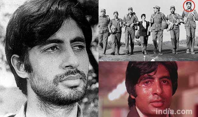 Amitabh Bachchan in Saat Hindustani and Zanjeer