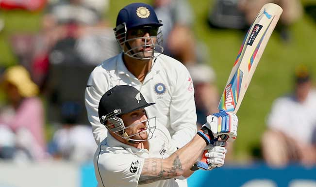 Brendon-McCullum-of-New-Zealand-bats-during-day-three-of-the-2nd-Test-match-between-New-Zealand-and-India-at