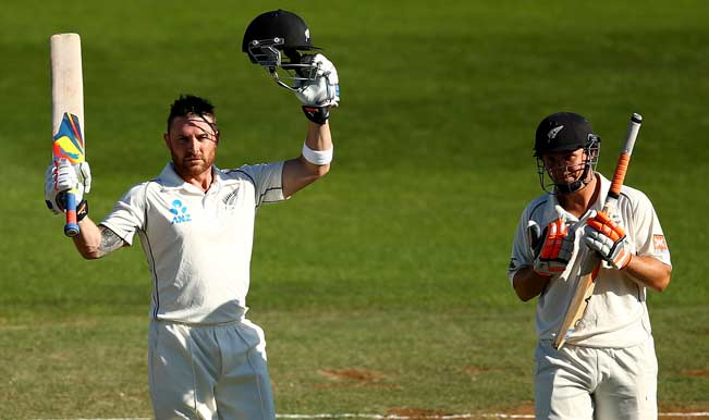 Brendon-McCullum-of-New-Zealand-celebrates-his-century-(L)-as-BJ-Watling-(R)-looks-9
