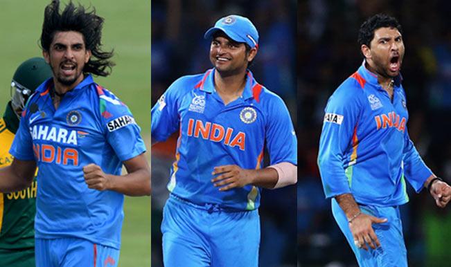 Ishant-Sharma--suresh-raina-and--yuvraj
