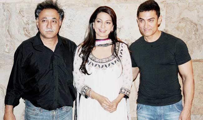 Mansoor Khan, Juhi Chawla and Aamir Khan