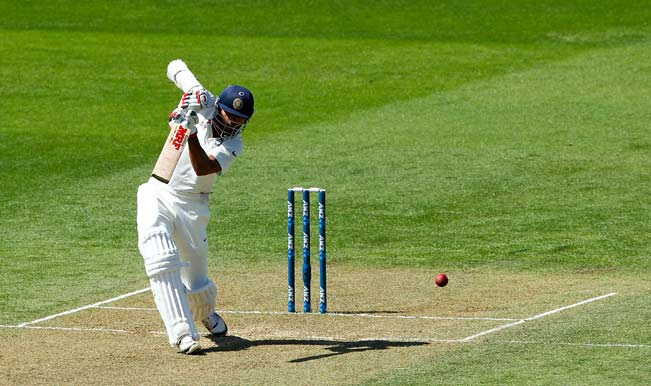 Shikar-Dhawan-of-India-bats-during-day-two-of-the-2nd-Test-match-between-New-Zealand