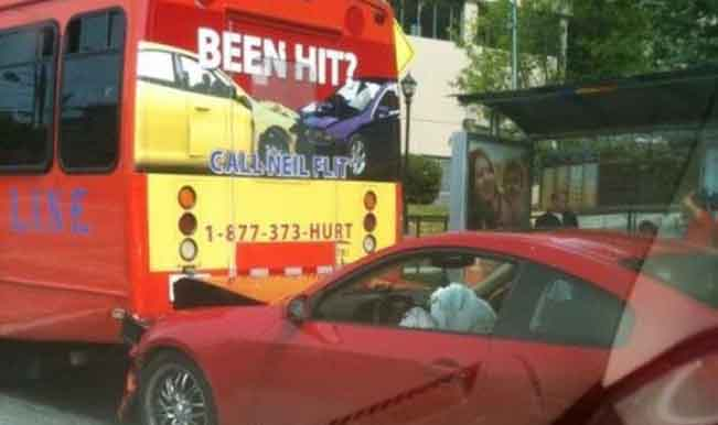 What are the odds of hitting a bus with an advert of getting car repair help