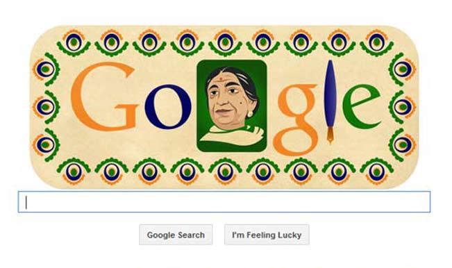Sarojini Naidu Google Doodle