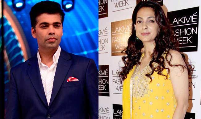 Karan Johar and Juhi Chawla