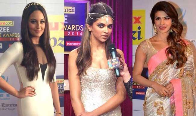 zee cine awards sonakshi deepika priyanka
