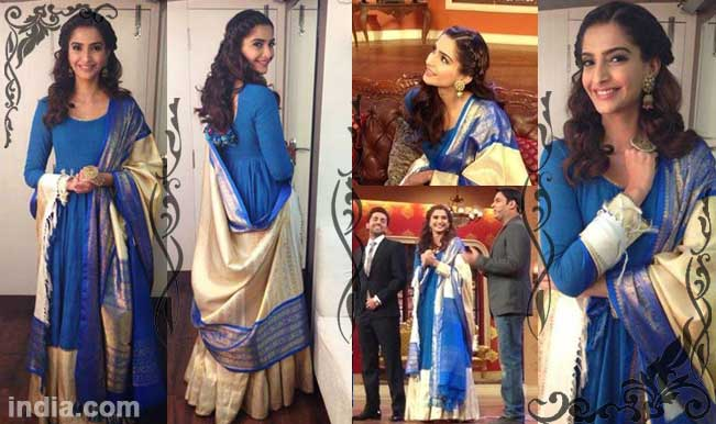 Sonam Kapoor in Gaurang Doshi's outfit