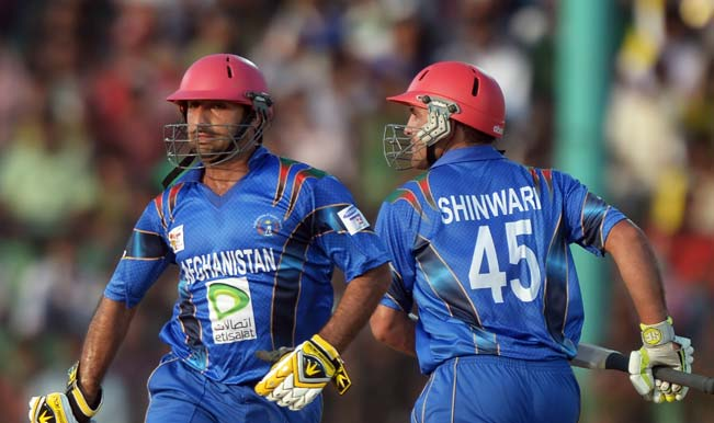 Afghan-cricketers-Samiullah-Shinwari-(R)-and-Asghar-Stanikzai-run-between-wickets-during-the-fifth-match-of-the-Asia-Cup-one-day-cricket-tournament-between-Bangladesh-and-Afghanistan