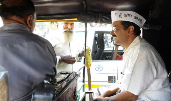Drama Company Aam Aadmi Party travel in auto, local trains to woo the Mumbai crowd
