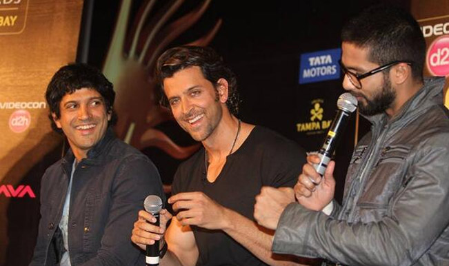 Farhan Akhtar Hrithik Roshan and Shahid Kapoor at IIFA Awards 2014 press conference - Twitter