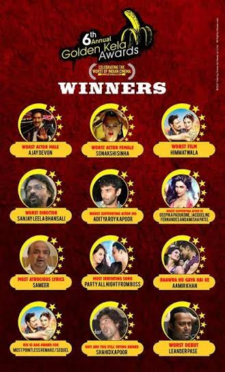 Golden Kela Awards 2014 winners' list: Aamir Khan, Sonakshi