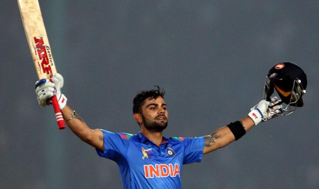 Indian-batsman-Virat-Kohli-celebrates-his-century-during-the-2nd-ODI-match-of-Asia-Cup-between-India-and-Bangladesh-at-Khan-Shaheb