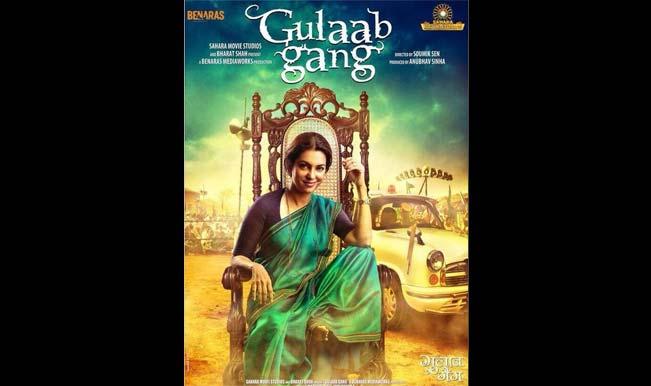 Juhi Chawla on Gulaab Gang poster
