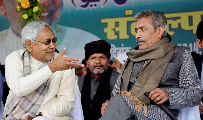 Nitish Kumar with Prakash Jha