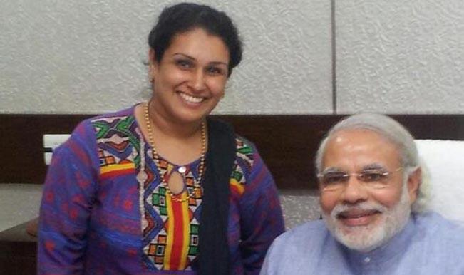Priti Gandhi and Narendra Modi