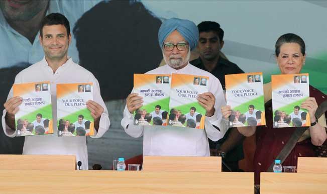 Sonia,-Manmohan,-Rahul-release-Congress-manifesto