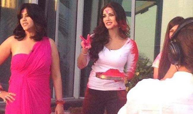 Sunny Leone (Right) with Ekta Kapoor