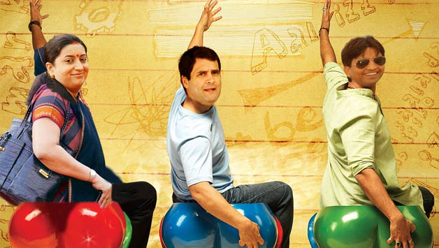 3-idiots--rahul-smriti-and-kumar-vishwas