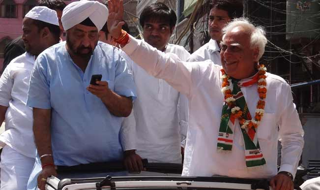 Congress-candidate-for-upcoming-2014-Lok-Sabha-Election-from-Chandni-Chowk,-Kapil-Sibal
