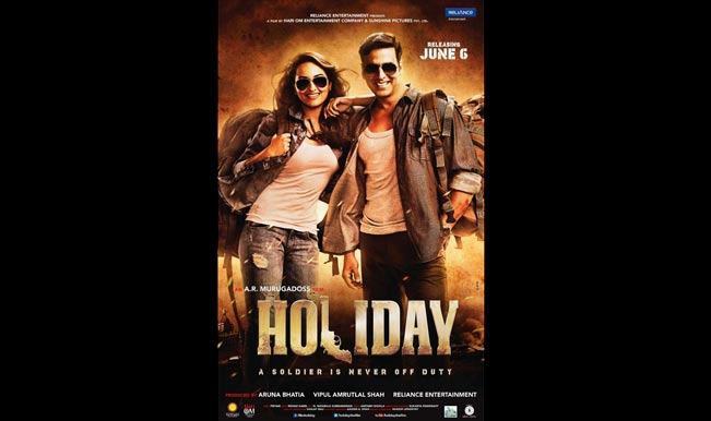 'Holiday' new poster out: Features Sonakshi Sinha and Akshay Kumar