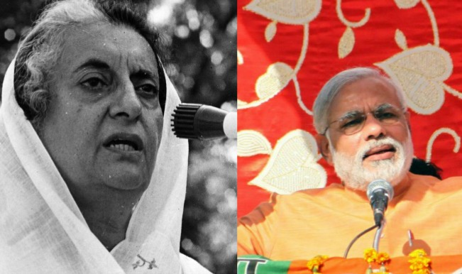 indira gandhi & narendra modi