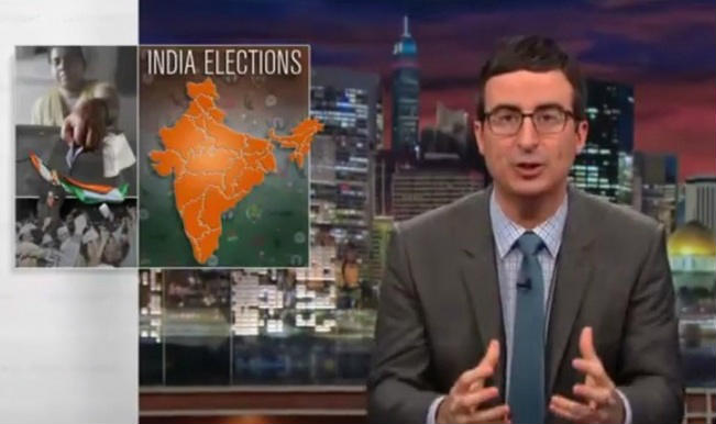 Viral: John Oliver on Indian Elections 2014 - Narendra Modi vs Rahul Gandhi