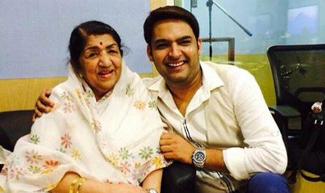 Lata Mangeshkar and Kapil Sharma
