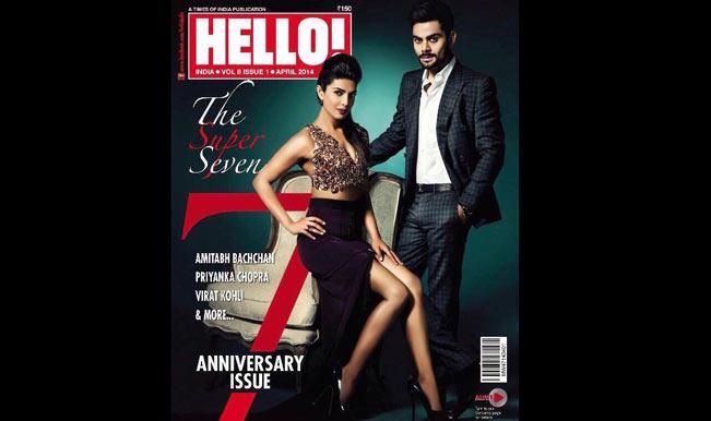 Priyanka Chopra and Virat Kohli on HELLO cover