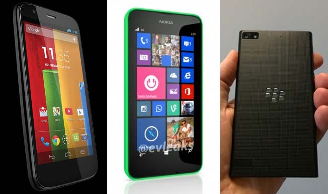 3 phones lumia 630 bb z3  moto e