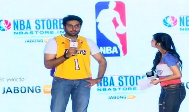 Watch video: Abhishek Bachchan announces launch of NBA's India store with Jabong