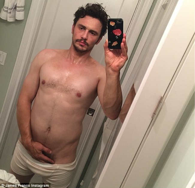 James Franco posts nude #selfie with hand on crotch - removes picture after outrage