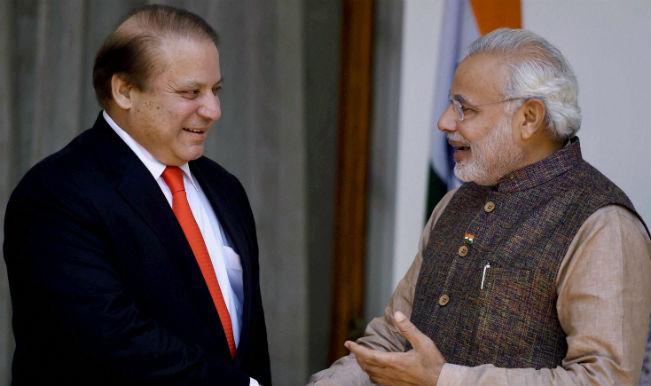 Narendra Modi with Nawaz Sharif 2