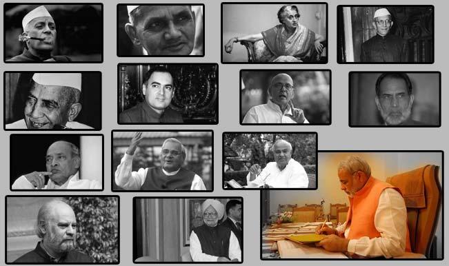 Image result for Jawaharlal Nehru, Indira Gandhi, Manmohan Singh, Vajpayee, Rajiv Gandhi