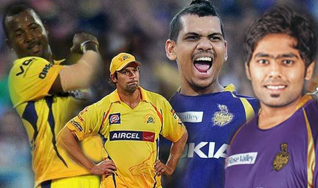 Sunil-Narine--Suryakumar-Yadav-&-Dwayne-Smith-