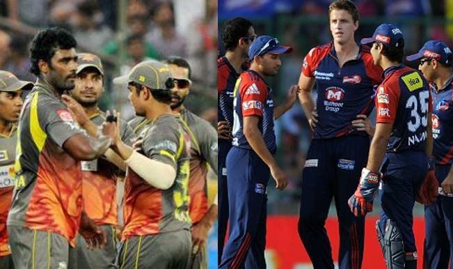 cricket match delhi daredevils sunrisers hyderabad players watch