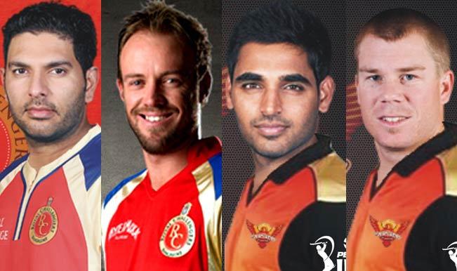 Yuvraj-Singh-(Royal-Challengers-Bangalore),--AB-de-Villiers-(Royal-Challengers-Bangalore),