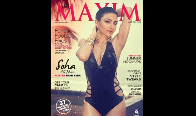Soha Ali Khan sizzles on Maxim cover June 2014