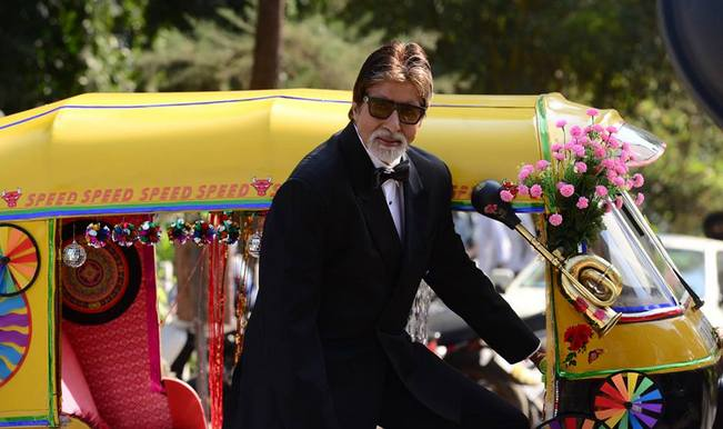 Big B shot stunts for TV show in body rig?