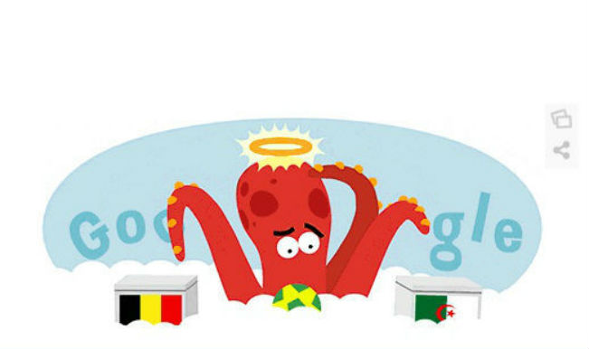 Google Doodle: Paul the octopus predicts the result of the FIFA World Cup 2014 Belgium v/c Algeria match
