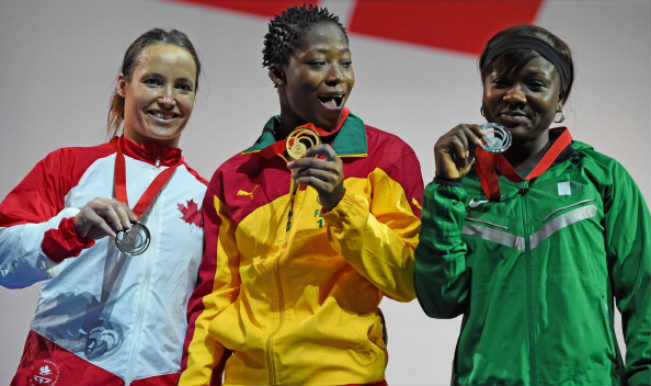 Marie Fegue of Cameroon, Marie Jose Ares Pilon of Canada and Itohan Ebireguesele of Nigeria