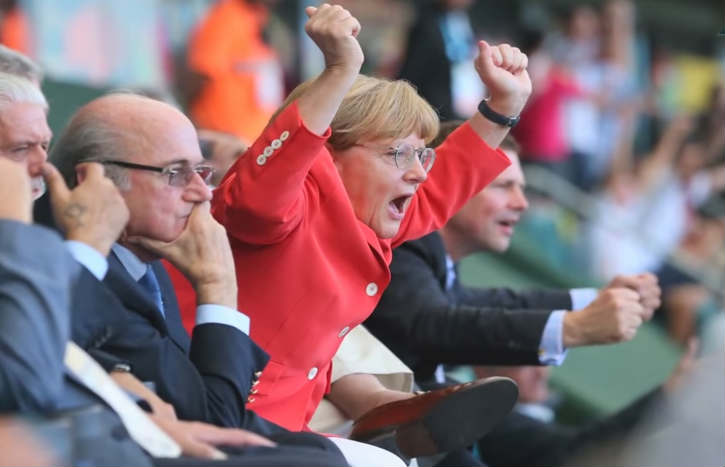 Happy Birthday, Angela Merkel: Chancellor and Germany's biggest fan at FIFA World Cup 2014!