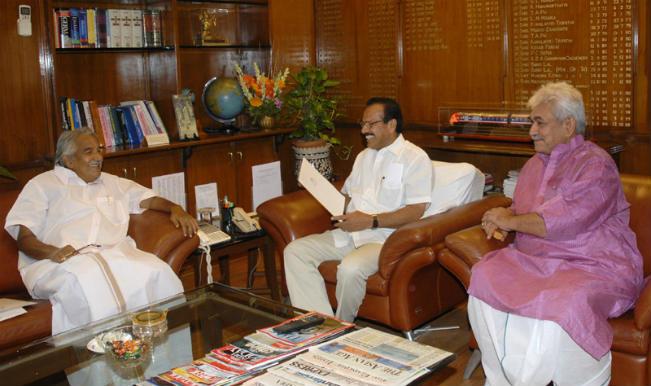 CM Kerala Oommen Chandy & Railway Minister Sadananda Gowda