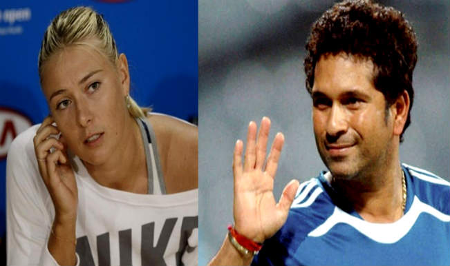 Maria Sharapova and Sachin Tendulkar