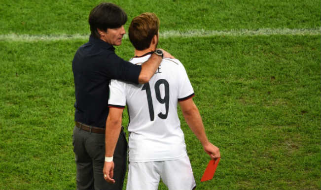 Mario Gotze and Joachim Loew