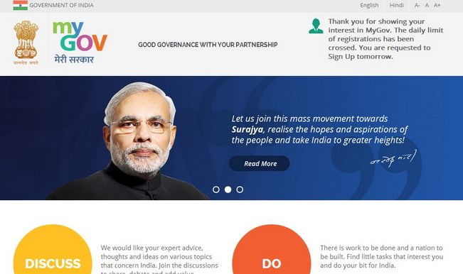 MyGov: PM Narendra Modi launches website for citizens (mygov.nic.in)