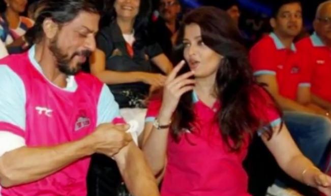 Watch: Aishwarya Rai Bachchan and Shahrukh Khan bond at Pro Kabaddi League 2014!